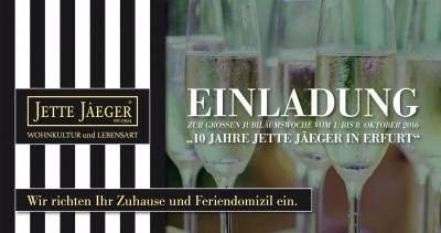 Jubiläumswoche im Oktober: 10 Jahre JETTE JÂEGER in Erfurt mit großer Bassetti