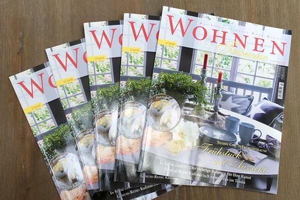 """Die Zeitschrift """"Wohnen Träume"""" Ausgabe 02/2016"""